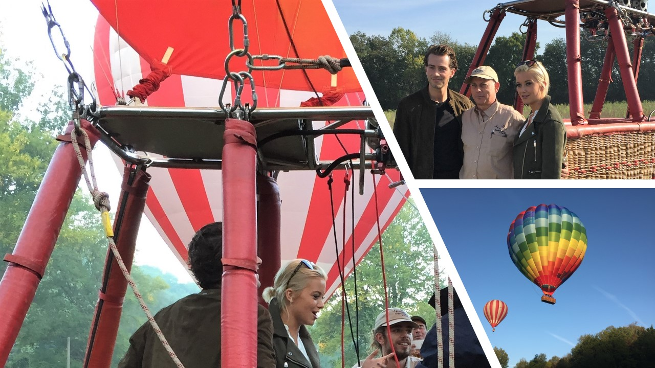 Digby and Olivia off Made in Chelsea hot air balloon ride Tuscany